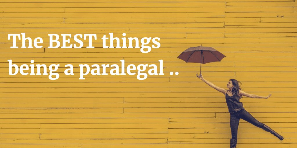 The best things being a paralegal illustration