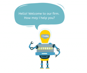 law firm chat bot illustration
